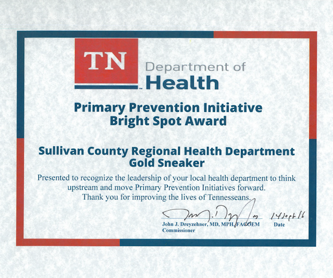 2016-tennessee-public-health-association-primary-prevention-initiative-bright-spot-for-our-gold-sneaker-program